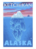Iceberg Cross-Section, Ketchikan, Alaska Posters by  Lantern Press