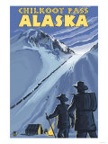 Chilkoot Pass, Alaska Gold Miners Art