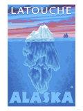 Iceberg Cross-Section, Latouche, Alaska Print by  Lantern Press