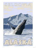Humpback Whale, Seldovia, Alaska Poster by  Lantern Press