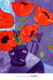 Poppies in Blue Room Prints by  Loughlin