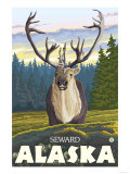 Caribou in the Wild, Seward, Alaska Posters