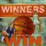 Winners: Basketball Poster von Robert Downs