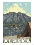 Bush Plane & Fishing, Sitka, Alaska Posters by  Lantern Press