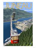 Tram over Juneau, Alaska Posters by  Lantern Press