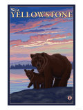 Bear and Cub, West Yellowstone, Montana Posters by  Lantern Press