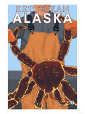 King Crab Fisherman, Ketchikan, Alaska Poster von  Lantern Press