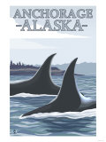 Orca Whales No.1, Anchorage, Alaska Posters by  Lantern Press