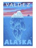 Iceberg Cross-Section, Valdez, Alaska Posters by  Lantern Press