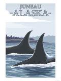 Orca Whales No.1, Juneau, Alaska Posters by  Lantern Press