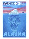 Iceberg Cross-Section, Wrangell, Alaska Posters