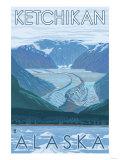 Glacier Scene, Ketchikan, Alaska Print