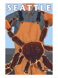 King Crab Fisherman, Seattle, Washington Print by  Lantern Press