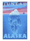 Iceberg Cross-Section, Juneau, Alaska Print by  Lantern Press