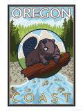 Beaver & River, Oregon Coast Posters