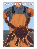 King Crab Fisherman, Washington Posters