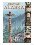 Alaska Totem Poles, Juneau, Alaska Posters by  Lantern Press