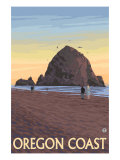 Haystack Rock, Cannon Beach, Oregon Poster by  Lantern Press