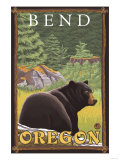 Black Bear in Forest, Bend, Oregon Poster