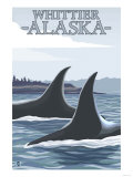 Orca Whales No.1, Whittier, Alaska Poster by  Lantern Press