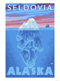 Iceberg Cross-Section, Seldovia, Alaska Poster by  Lantern Press