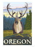 Caribou in the Wild, Oregon Posters by  Lantern Press