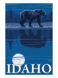 Bear in Moonlight, Idaho Posters