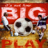 Big Play: Soccer Kunstdruck von Robert Downs