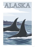 Orca Whales No.1, Alaska Posters by  Lantern Press