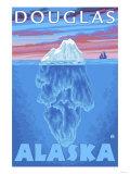 Iceberg Cross-Section, Douglas, Alaska Poster by  Lantern Press