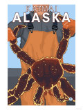 King Crab Fisherman, Katmai, Alaska Poster by  Lantern Press