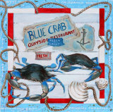 Blue Crab Prints by  Adriana