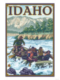White Water Rafting, Idaho Posters by  Lantern Press