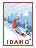 Snowboarder Scene, Idaho Posters by  Lantern Press
