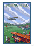 Boeing Field, Seattle, Washington Posters by  Lantern Press