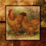Hen and Rooster II Print