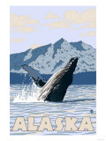 Humpback Whale, Alaska Print by  Lantern Press