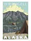Bush Plane & Fishing, Wrangell, Alaska Poster