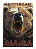 Bear Roaring, Ketchikan, Alaska Poster
