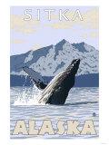 Humpback Whale, Sitka, Alaska Poster
