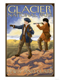 Lewis and Clark, Glacier National Park, Montana Prints by  Lantern Press