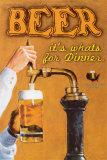Øl: Her er din aftensmad, på engelsk Plakater af Robert Downs