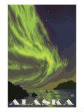 Northern Lights and Orcas, Sitka, Alaska Posters