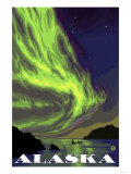 Northern Lights and Orcas, Alaska Posters