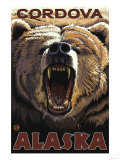 Bear Roaring, Cordova, Alaska Posters by  Lantern Press