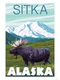 Moose Scene, Sitka, Alaska Posters