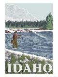 Fly Fisherman, Idaho Posters by  Lantern Press