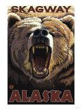 Bear Roaring, Skagway, Alaska Lámina