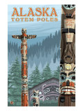 Saxman Totem Village, Ketchikan, Alaska Posters