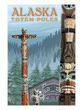 Saxman Totem Village, Ketchikan, Alaska Posters